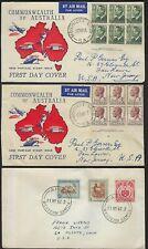 AUSTRALIA 1950s COLLECTION OF 9 FDCs INCLUDES NEW ZEALAND SAMOA NAURU
