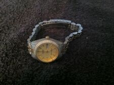 Two Tone Watch Water Resistant Ladies Sharp Quartz - Day Date