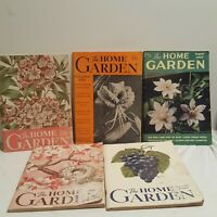 Lot of 5 The Home Garden Vintage Magazine 1946-1952 Flowers Horticulture Nice