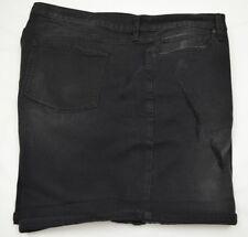 cdf87897e8 Boutique para Mujer Negro Denim Jeans Pantalones Cortos Dobladillo Con Puño  Talla Grande 24W