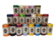 20 TS Colori Rayon Seta Macchina da cucire ricamo fili reesham BOBINE