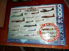Eurographics WWII Bombers 1000 Pc Jigsaw Puzzle + 100 Pc Mini Puzzle & Poster