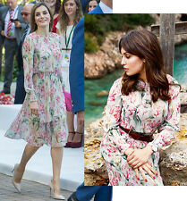 ZARA FLORAL MIDI DRESS QUEEN LETIZIA BLOGGERS SIZE XS