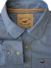 Hollister Camicia Da Uomo 16.5 M Blue-White Stripes