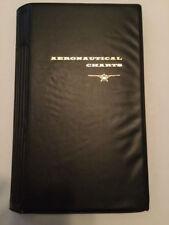 VINTAGE AERONAUTICAL CHARTS CASE/ORGANIZER IN EXCELLENT CONDITION