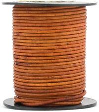Xsotica ® коричневый светлый натуральный краситель круглый кожаный шнур 1.5 мм 25 м (27 ярдов)