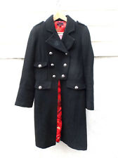 Axara Womens Military Style Wool Coat Size 8-10 Jacket Gothic Goth Small Red