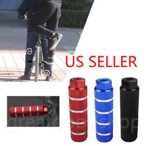 2pcs MTB BMX Bike Alloy Foot Stunt Pegs Footrest Lever Cylinder Grip 3/8'' Axle