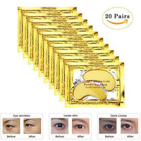 20pair Crystal Collagen Gold Powder Eye Mask Patch Eye Pad