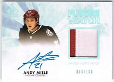 2011-12 SP AUTHENTIC FUTURE WATCH LIMITED AUTOGRAPH PATCH #222 ANDY MIELE /100