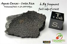 6.8g Costa Rica Meteorite w/full side of fusion crust IMCA #6236 - Carbonaceous!