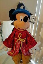 "Disney Parks  Fantasia Sorcerer Mickey Mouse Plush 24"""