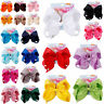 8 inch JOJO Siwa bows HairBow With Alligator Clip Women Girl Bowknot 30Color-New