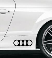 2 x AUDI RINGS CAR VINYL STICKERS / DECALS SIDE SKIRT Any Colour