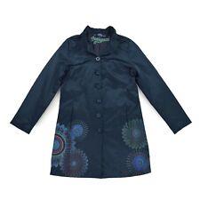 DESIGUAL Damen Mantel Gr.44 DE 42 petrol Jacke Woman Jacket Cardigan wie NEU