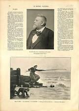 ARTICLE Mort de Jacques-Eugène Spuller / PECHE FISHING Anguille Eel GRAVURE 1896