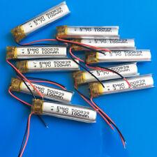 10 pcs 100mAh 3.7V Li Po Battery 500839 For MP3 MP4 Bluetooth Headset Video Pen