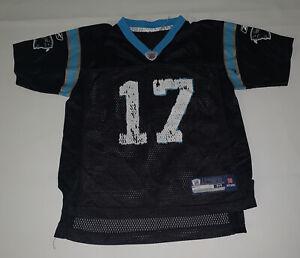 Reebok NFL Carolina Panthers Jake Delhomme Boys Youth Size M Black #17