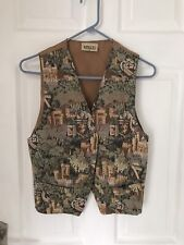 Ex Hire Fancy Dress Costumes - Ladies Patterned Waistcoat With Tan Back Size 12