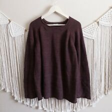 American Apparel Maroon Thick Knit Pullover Sweater Men's Size XL
