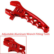 Red Adjustable Aluminum Alloy Wrench Fitting Tools Spanner For An 3 4 6 8 10 12(Fits: More than one vehicle)