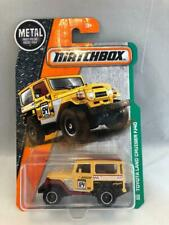 2017 Matchbox Toyota Land Cruiser in Yellow 120/125 with Metal Parts