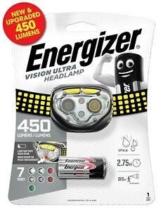 Energizer LED 450 Lumens Vision Ultra HD Headlight Head Torch Lamp- 7 Modes