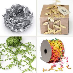 Artificial Green Vine Leaves Garland Ribbon Flower Headband Craft Making Home