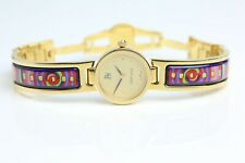 Freywille Hundertwasser Spiral of Life Enamel Watch Piccadilly Circus