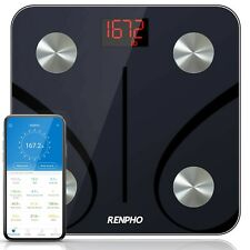 RENPHO Bluetooth Body Fat Scale, Digital Weight Scale Bathroom Smart Body Com...