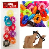 10 Spiral Hair Bobbles Elastics No Tangle Tie Bands Trend Ponytail Style Rope