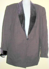 9907732a39 Lord   Taylor - 16W - EGGPLANT PLUM 1 BUTTON 100% WOOL CHESTERFIELD JACKET