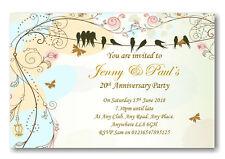 50 Beautiful Personalised Wedding Anniversary Invitations ~ Invites Ref A8