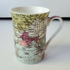 Ken Pottery Mug Cup Map Globe World Drink Ware Kitchen Dining Coffee Tea