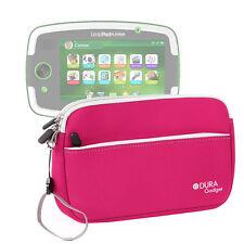 "Pink Neoprene Zip Case For Leapfrog LeapPad Platinum 7"" Tablet w/ Front Pocket"