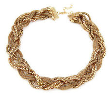 Vintage Statement Gold  Bib Chunky Collar Party Jewelry Pendant Chain Necklace
