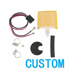 CUSTOM Electric Fuel Pump Strainer & Connect Wire & Clamps & Gasket & Cover 200