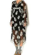 Black Gardenia Chiffon Dress  by Anna sui NWOT size 0 . Original price $849.00