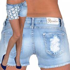 Kurze Markenlose Damen-Shorts & -Bermudas aus Denim