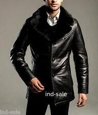 Custom Tailor Made All Size Genuine Nappa Leather Blazer Broad Lapel Jacket FUR