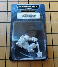 40k Rare oop Blister Vintage Metal Space Marine Chaplain w bare head NIB 6