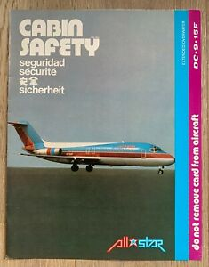 ALL STAR DC-9-15F SAFETY CARD 1982