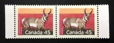 Canada #1172f SP 12.5x13 MNH, Pronghorn Definitive Booklet Strip of Stamps 1990