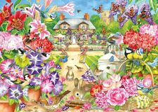 Jigsaw Puzzle 1000 Piece Summer Garden House w Flowers Falcon de Luxe 71-11130