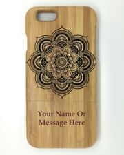 "Personalised Engraved Mandala design Wooden bamboo iphone 6 4.7"" Case,Cover"