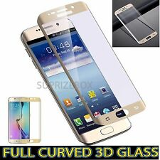 Samsung Galaxy S6 Edge Full Curved Tempered Glass LCD Screen Protection Gold