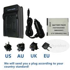 Battery + Charger For Panasonic Lumix DMC-TZ40 DMC-TZ55 DMC-TZ60 Digital Camera