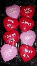 NEW VALENTINE SWEETHEART CONVERSATION heart SET of 16 candy CONTAINERS BOXES