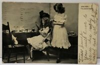 RPPC Victorian Women Styling Their Hair 1908 To Marshall TX Postcard E20