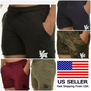 YoungLA Men's Bodybuilding French Terry Cut-Off Shorts - Many Colors & Sizes